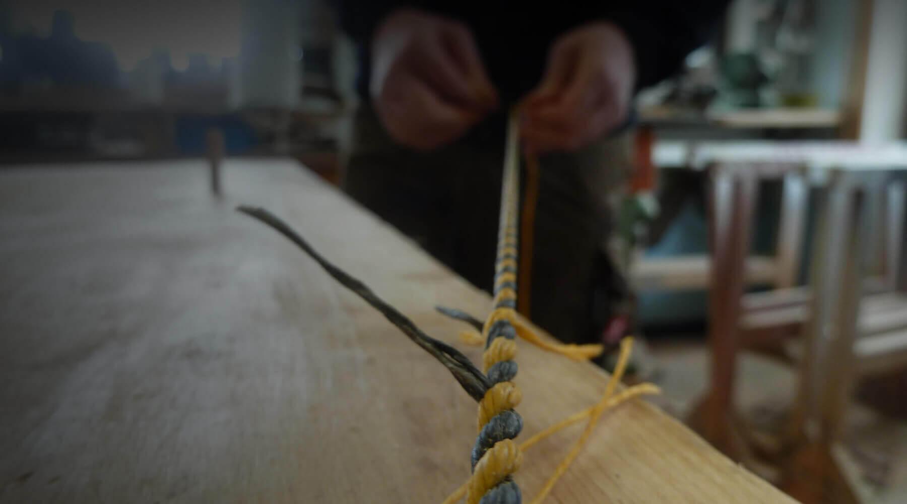 Bogenbau Sehne