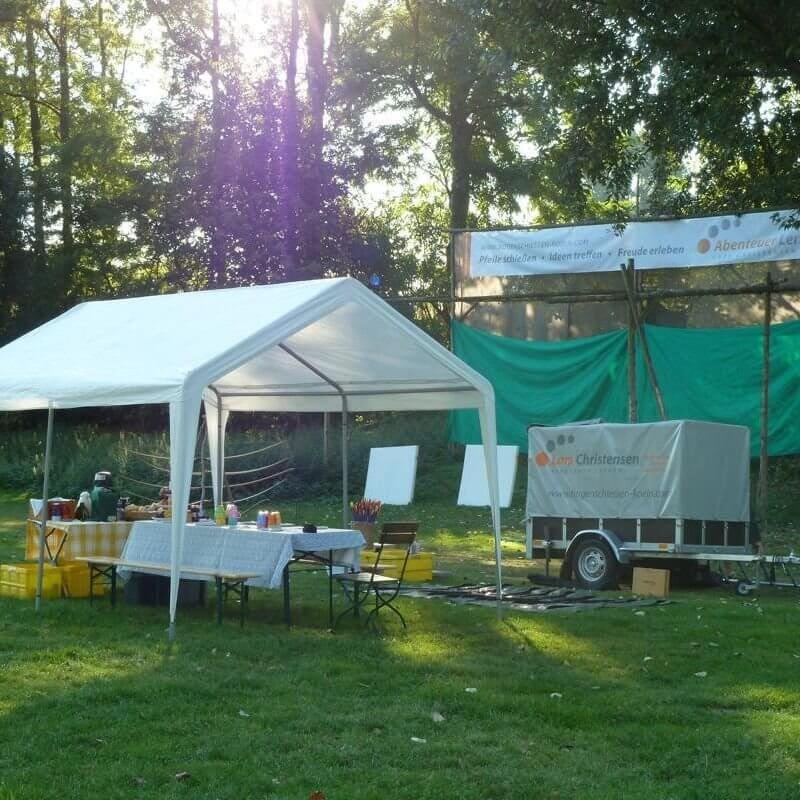 AbenteuerLernen.net intuitives Bogenschießen für Anfänger Bogenplatz im Jugendpark in Köln am Rhein