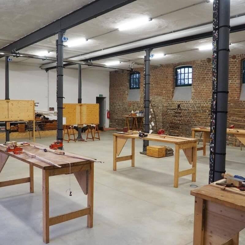 AbenteuerLernen.net Bogenbau in Köln Widdersdorf Haus Rath Tillerbretter und Werkbaenke